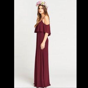 Show Me Your Mumu Caitlin Ruffle Maxi Dress XL